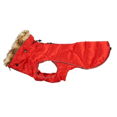 Buster Active Wintermantel, M, rot, Rücken 40 cm