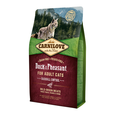 Carnilove Adult Duck & Pheasant Hairball Control Katzenfutter, 2 kg