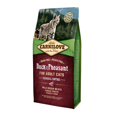 Carnilove Adult Duck & Pheasant Hairball Control Katzenfutter