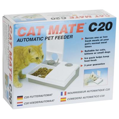 Cat Mate C20 Nassfutter Automat, 26 x 21 x 8 cm, 201C, doppelt
