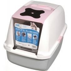Catit Katzentoilette mit Abdeckung, pink