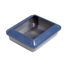 Catit Katzentoilette mit Rand, M: 48 x 38 x 15, schattenblau / grau