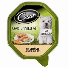 Cesar Schälchen Gartenvielfalt Hundefutter