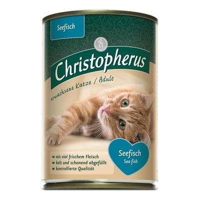 Christopherus Adult Katzenfutter, Seefisch 6x400g