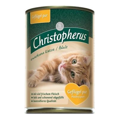 Christopherus Adult Katzenfutter, Geflügel pur 6x400g