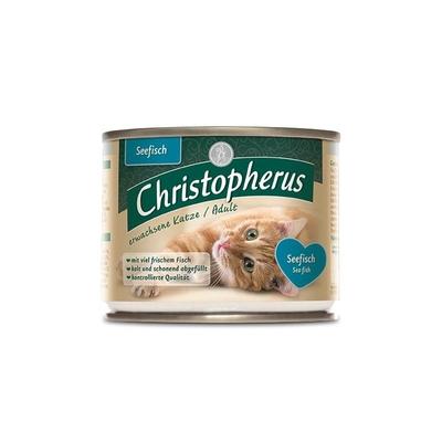 Christopherus Adult Katzenfutter, Seefisch 6x200g