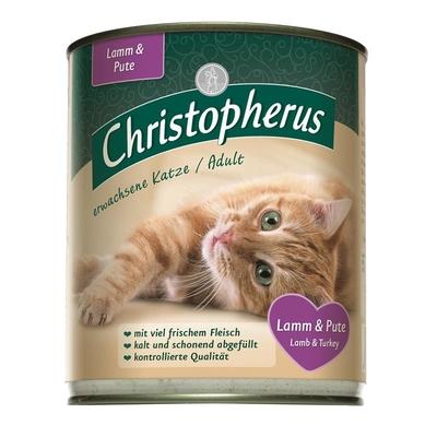 Christopherus Adult Katzenfutter, Lamm & Pute 6 x 800g