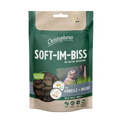 Christopherus Hundesnack Soft-Im-Biss Forelle & Insekt