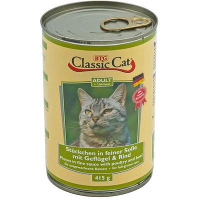 Classic Cat mit Soße Dosen Katzenfutter, Geflügel & Rind 12x415g