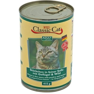 Classic Cat mit Soße Dosen Katzenfutter, mit Geflügel & Wild 12x415g