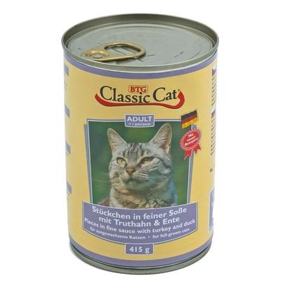 Classic Cat mit Soße Dosen Katzenfutter, Truthahn & Ente 12x415g