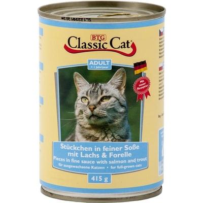 Classic Cat mit Soße Dosen Katzenfutter, Lachs & Forelle 12x415g