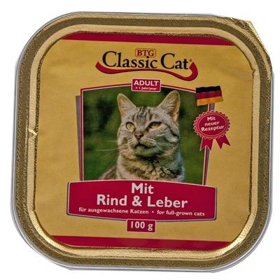 Classic Cat Schale Katzenfutter, Rind & Leber 30x100g