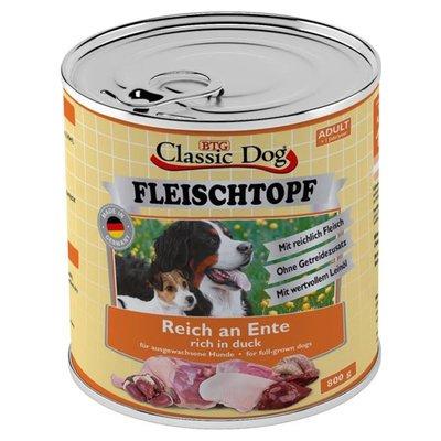 Classic Dog Adult Fleischtopf Pur Reich an Ente