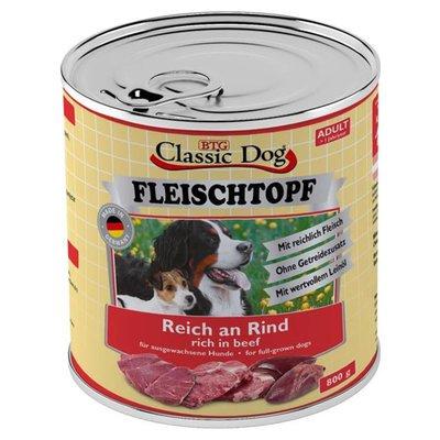 Classic Dog Dose Fleischtopf Pur Reich an Rind