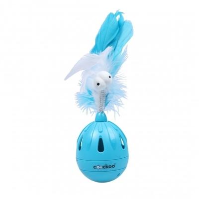 Coockoo Katzenspielzeug Tumbler, blau - 19,5x7 cm