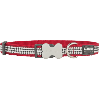 Red Dingo Hundehalsband Design Fang It Red
