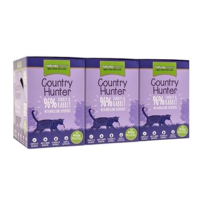 Country Hunter Katzenfutter Frischebeutel, 96% Pute & Kaninchen 6x85g