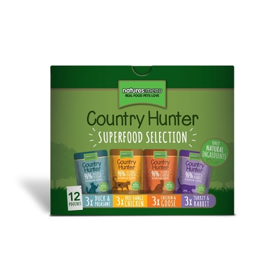 Natures Menu Country Hunter Katzenfutter Multipack, 12x85g