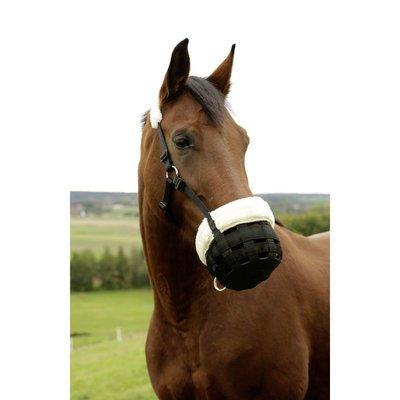 Covalliero Maulkorb für Pferde mit Teddyfleece
