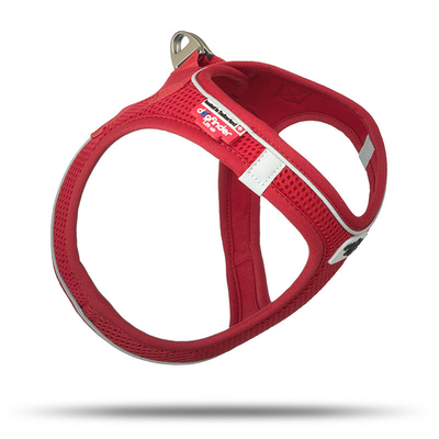 Curli Magnetic Vest Geschirr Air-Mesh, Rot 2XS, Schulter 24 - 28 cm, Brust 28 - 32 cm
