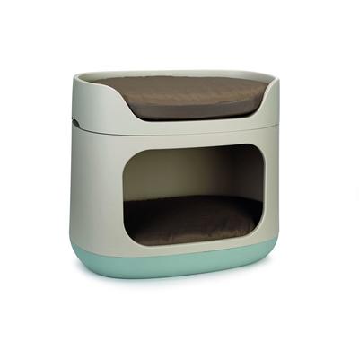 Curver Etagenbett für Katzen und kleine Hunde, 58 x 32 x 50 cm, hellblau