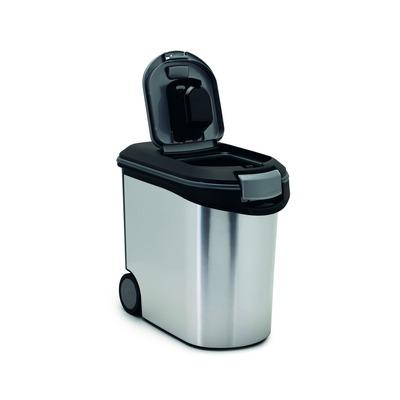 Curver Futtercontainer Futtertonne Metallic, 35 L, für ca. 12 kg (28x50x43 cm)