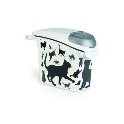 Curver Futterdose Futterbehälter Silhouette Katze, 15 l, 6 kg