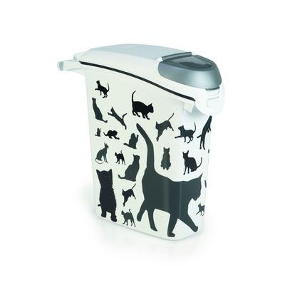 Curver Futterdose Futterbehälter Silhouette Katze, 23 l, 10 kg