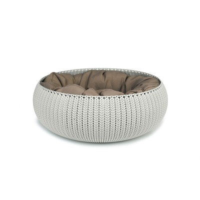 Curver Pet Bed Katzenbett Hundebett, 50 cm, creme