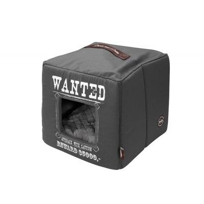 D&D Homecollection Wanted Katzenhöhle, 40x40x40cm, grau