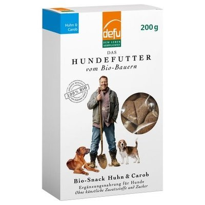 defu Hunde Bio-Snack Huhn & Carob