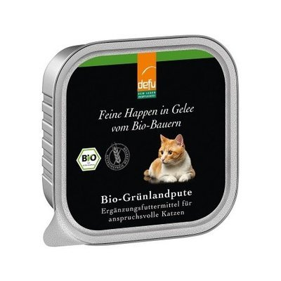 defu Katzenfutter Bio-Grünlandpute - Feine Happen in Gelee