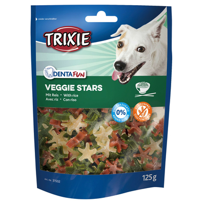 TRIXIE Denta Fun Veggie Stars mit Reis vegetarischer Hundesnack