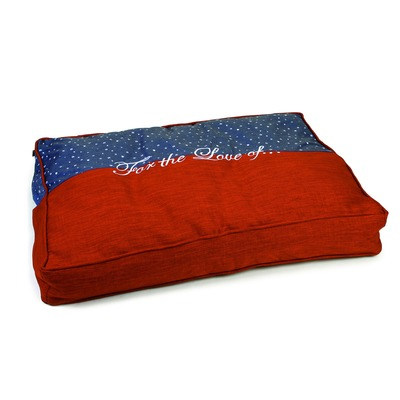 Designed By Lotte Hundekissen Tyda, 100 x 70 x 15 cm, blau orange