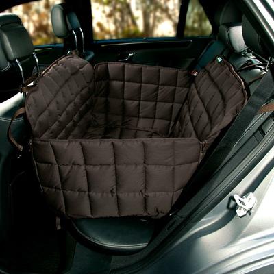 Doctor Bark 2-Sitz-Autodecke für Rücksitz, L: Sitzbreite 85 cm, Sitztiefe 60 cm, Sitzhöhe 55 cm, braun