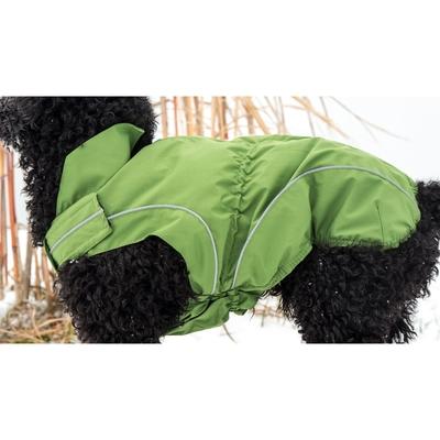 DogBite Hunde Ganzjahres Regenjacke Matt, grün - Gr. 70