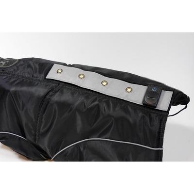 DogBite Hunde Leucht-Winterjacke mit LED, Rückenlänge 50 cm, schwarz