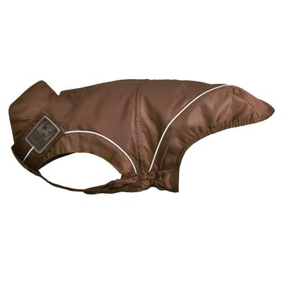 DogBite Hunde Regenjacke, Rückenlänge 45 cm, braun