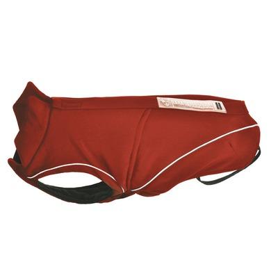 DogBite Hunde Softshell Jacke, Rückenlänge 40 cm, rot