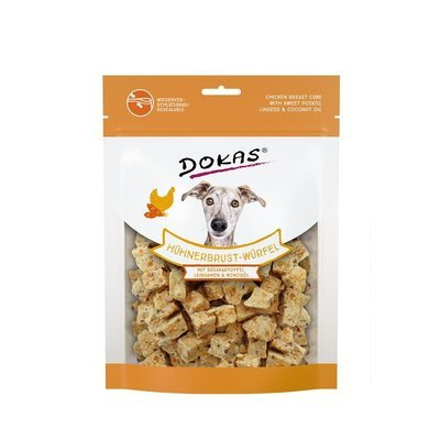 Dokas Hundesnack Hühnerbrust-Würfel mit Süsskartoffel