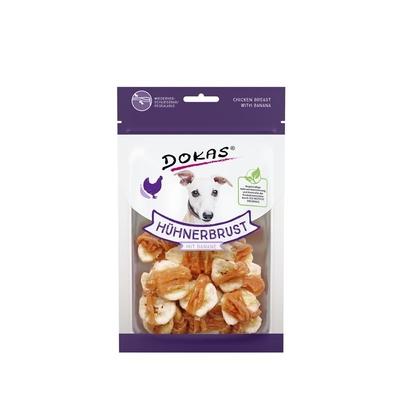 Dokas Hundesnack Hühnerbrustfilet mit Banane