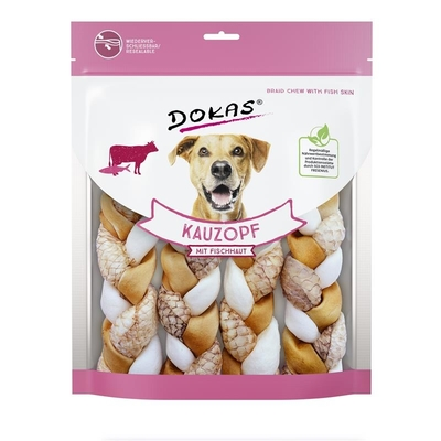 Dokas Kauzopf mit Fischhaut Hundesnack