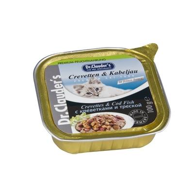 Dr. Clauders Katzenfutter Schälchen, Crevetten & Kabeljau in Soße 32x100g