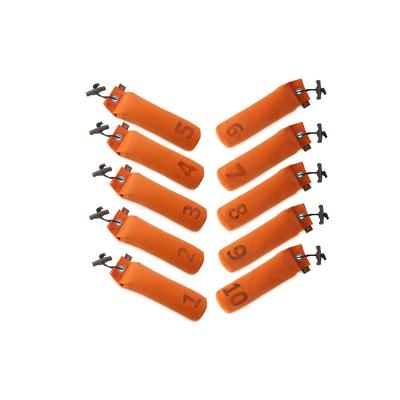 Dummy Set für Hunde 1-10 nummeriert, 10x 500g, 1-10, orange