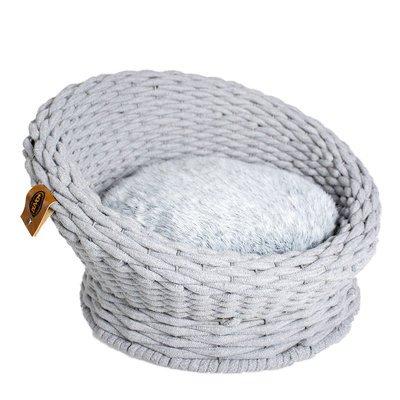 Duvo+ Katzensofa Oyster aus Baumwoll-Seil