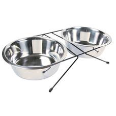 TRIXIE Eat-on-Feet Hunde Napf Set mit Halter