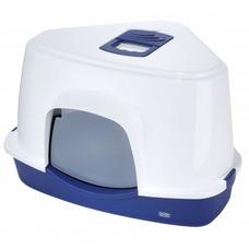 Ecktoilette für die Katze XXL Prism 70, 56x70cm/H46cm, dunkelblau