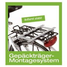 Montagesystem für Aumüller-Fahrradkörbe mit Gepäckträgermontage