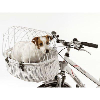 Fahrradkorb für Hunde weiß